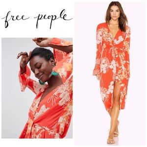 Free People mixed print twist dress. NWOT